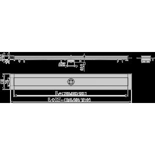 Водоотводящий желоб Alcaplast APZ13-750 из нержавеющей стали модулярный