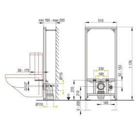 Монтажная рама Alcaplast A113/1200 для унитаза