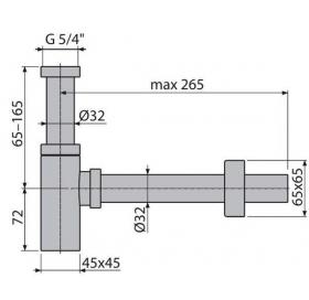 Cифон Alcaplast A401 для умывальника