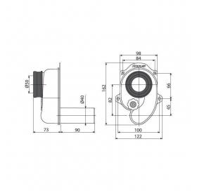 Сифон Alcaplast A45B для писсуара задний
