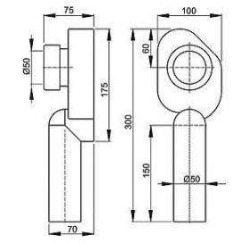 Сифон Alcaplast A45C для писсуара нижний