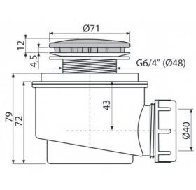Сифон ALCAPLAST A47B-50 для душевого поддона