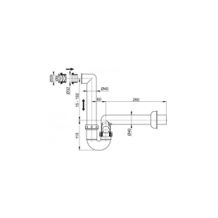 Сифон Alcaplast AKS2 для сбора конденсата