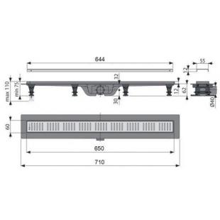 Водосточный желоб Alcaplast APZ10-950M