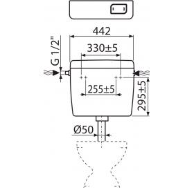 Универсальный бачок Alca Plast для унитаза, A94
