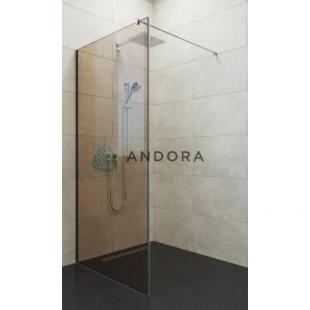 Стенка для душа Andora Summer WALK-IN 900*2000 мм, бронзовая, безопасное стекло ANWBR90200