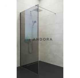 Стенка для душа Andora Summer WALK-IN 800*2000 мм, графит, безопасное стекло ANWGF80200