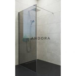 Стенка для душа Andora Summer WALK-IN 1000*2000 мм, графит, безопасное стекло ANWGF100200