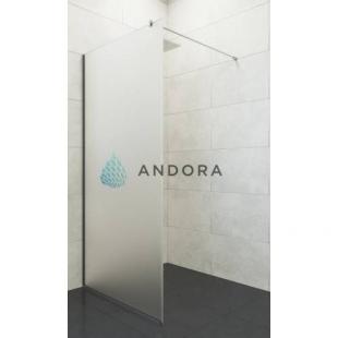 Стенка для душа Andora Summer WALK-IN 800*2000 мм, матовая, безопасное стекло ANWS80200
