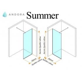 Стенка для душа Andora Summer WALK-IN 1000*2000 мм, бронзовая, безопасное стекло ANWBR100200