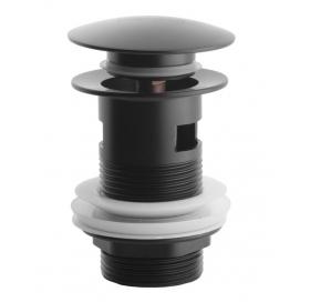 Донный клапан с переливом Asignatura 45511902 черный матовый