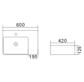 Умывальник Asignatura Angle белый 87801805