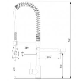 Смеситель для кухни Asignatura Industrial 80545600