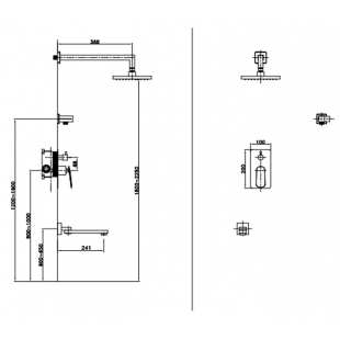 Душевая система Asignatura Intense 65507900