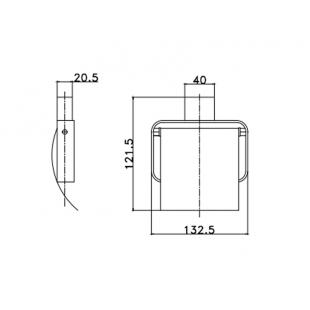 Держатель для туалетной бумаги Asignatura Unique черный матовый 85605802