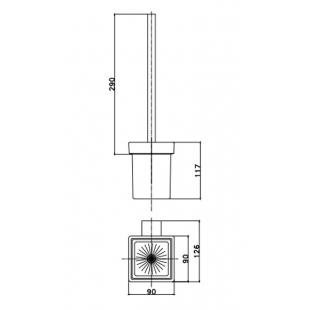 Ёршик туалетный Asignatura Unique 85609802 черный