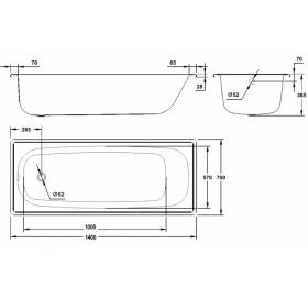 Ванна стальная BLB EUROPA 140х70
