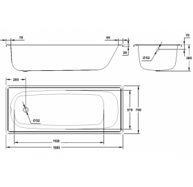 Ванна стальная BLB EUROPA 150х70