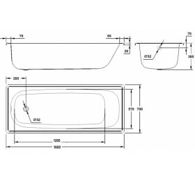 Ванна стальная BLB EUROPA 160х70