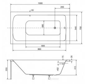 Панель для ванны BESCO PMD PIRAMIDA TALIA 160х75 (передняя+боковая), NAVARA15063