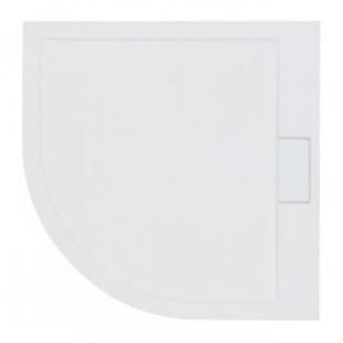 Поддон акриловый полукруглый BESCO AXIM 90х90 stone effect серый + сифон, NAVARA14724