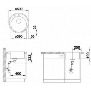 Кухонная мойка BLANCO RIONA 45 (521401) кофе