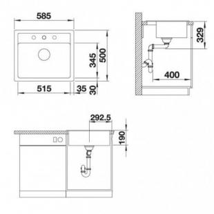 Кухонная мойка Blanco LEGRA 6 SILGRANIT жасмин, 523335