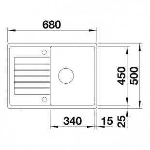 Кухонная мойка Blanco ZIA 45 S Compact SILGRANIT® PuraDur® алюметаллик, 524723