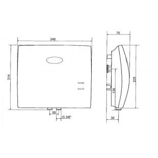 Проточный водонагреватель Drazice MX 2207 4,5kW/7kW, 105213310