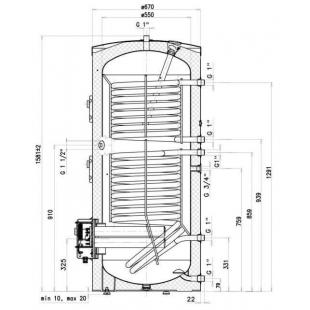 Водонагреватель косвенного нагрева Drazice OKC 300 NTRR/BP model 2016, 300 л. 121090101