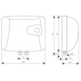 Проточный водонагреватель Drazice PTO 0733, 105213200