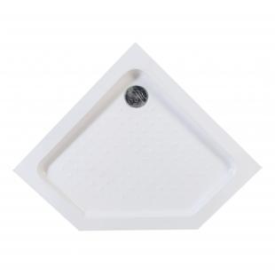 Душевой поддон пятиугольный акриловый с сифоном Eger STEFANI 90x90x15, 599-535/2