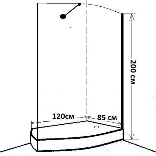 Душевой уголок EGER ILUSIO'N 599-657 120x85x200  (передняя стенка+поддон)