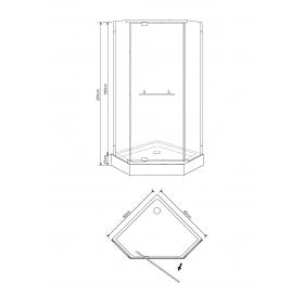 Душевая кабина Eger TALANY 90х90х205 см, с мелким поддоном стекло прозрачное, 599-555