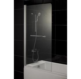 Штора на ванну 80*150, стекло прозрачное, левая, 599-02L