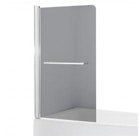 Штора на ванну 80*150, стекло тонированное, левая, 599-02L grey