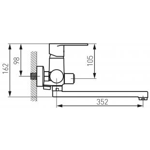 Смеситель для ванны FERRO ALGEO (BAG55A) с гарнитуром