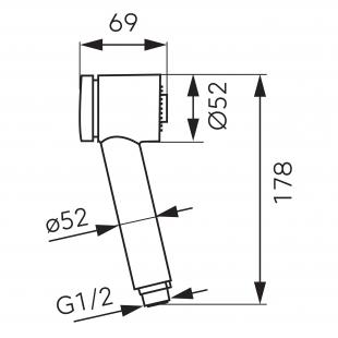 Гигиеническая лейка FERRO (CF0052)