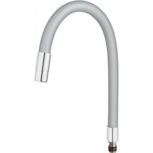 Гибкий излив для кухонного смесителя FERRO ELASTICO (W100S-B) серебристый