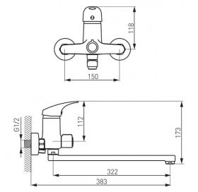 Смеситель для ванні FERRO ONE (BFO55A)