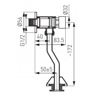 Кран для писсуара FERRO (Z211)