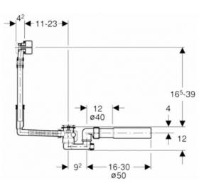 Сифон для ванны Geberit, 150.710.21.1