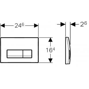 Кнопка смыва Geberit  Delta 51,пластик, хром матовый (115.105.46.1)