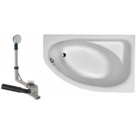 SPRING ванна 170x100 асимметричная правая в комплекте с сифоном Geberit 150.520.21.1, с ножками