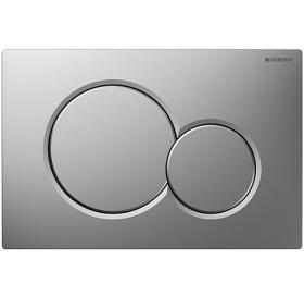 Кнопка смыва Geberit SIGMA 01, пластик хром матовый