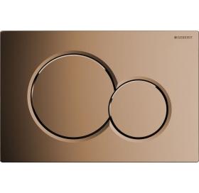 Кнопка смыва Geberit SIGMA 01, пластик цвет латунь