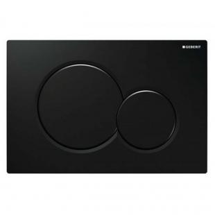Кнопка смыва Geberit SIGMA 01, пластик черный