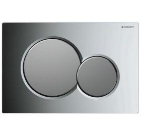 Кнопка смыва Geberit SIGMA 01, пластик хром глянцевый/матовый