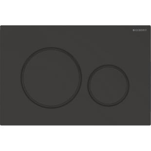 Кнопка смыва Geberit Sigma20 черная матовая с двойным смывом 115.882.16.1