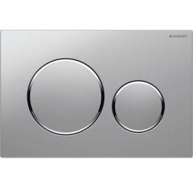 Кнопка смыва Geberit SIGMA 20, двойной смыв, пластик, хром глянцевый/хром матовый /хром глянцевый